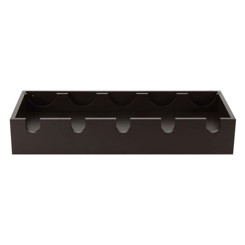 nexxt Ellington Wine Rack Wall Shelf, Brown