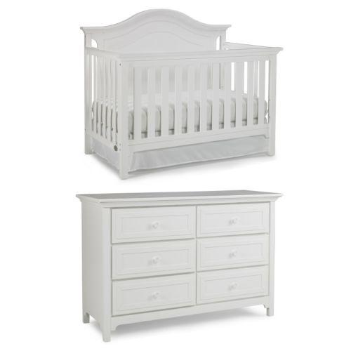 Ti Amo Catania Convertible Crib & Double Dresser Set