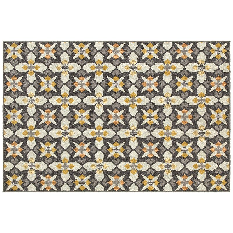 StyleHaven Longview Cross Panel Indoor Outdoor Rug
