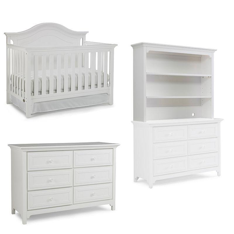 Ti Amo Catania Convertible Crib, Double Dresser & Hutch Set