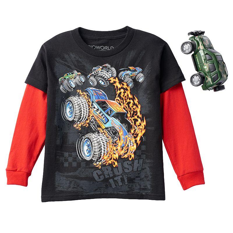 Kohl S Toys Boys 5 7 : Boys monster truck quot crush it skater tee dealtrend