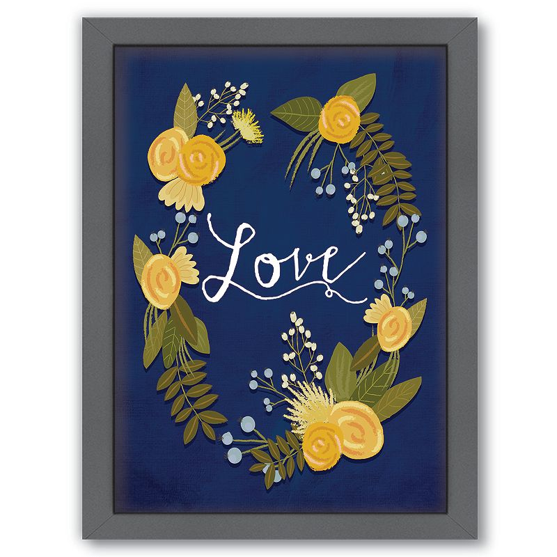 Framed Love Wall Decor : Americanflat  love framed wall art dealtrend