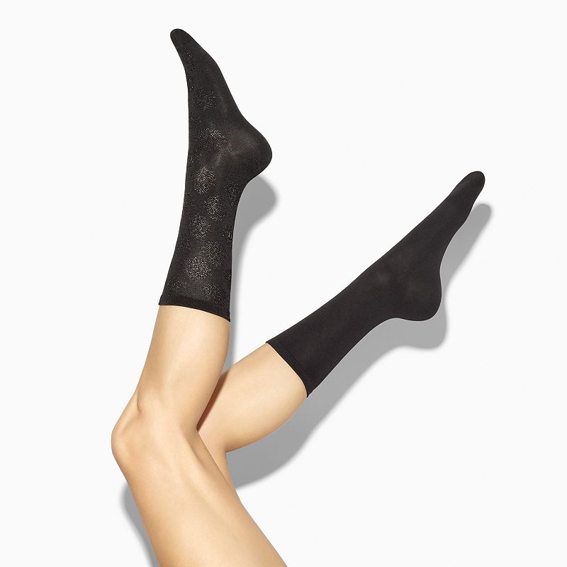 Simply Vera Vera Wang Diamond Brocade Crew Socks - Women