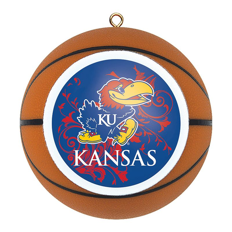 Kansas Jayhawks Basketball Christmas Ornament