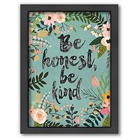 Americanflat ''Be Honest, Be Kind'' Framed Wall Art