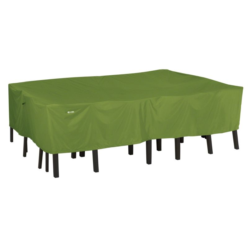 Outdoor Classic Accessories Sodo Rectangular \/ Oval Patio Table and Chair Set Cover, Green