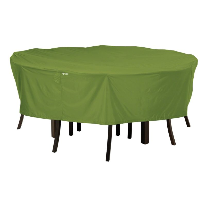 Outdoor Classic Accessories Sodo Round Patio Table and Chair Set Cover, Green