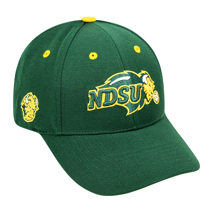 Adult Top of the World North Dakota State Bison Triple Threat Adjustable Cap