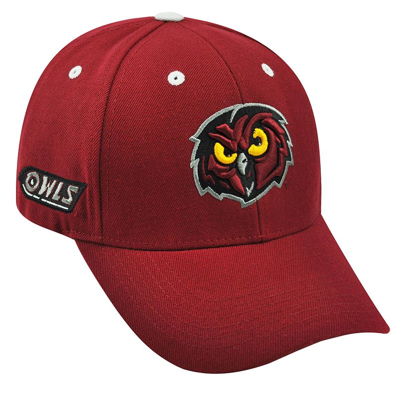 Adult Top of the World Temple Owls Triple Threat Adjustable Cap