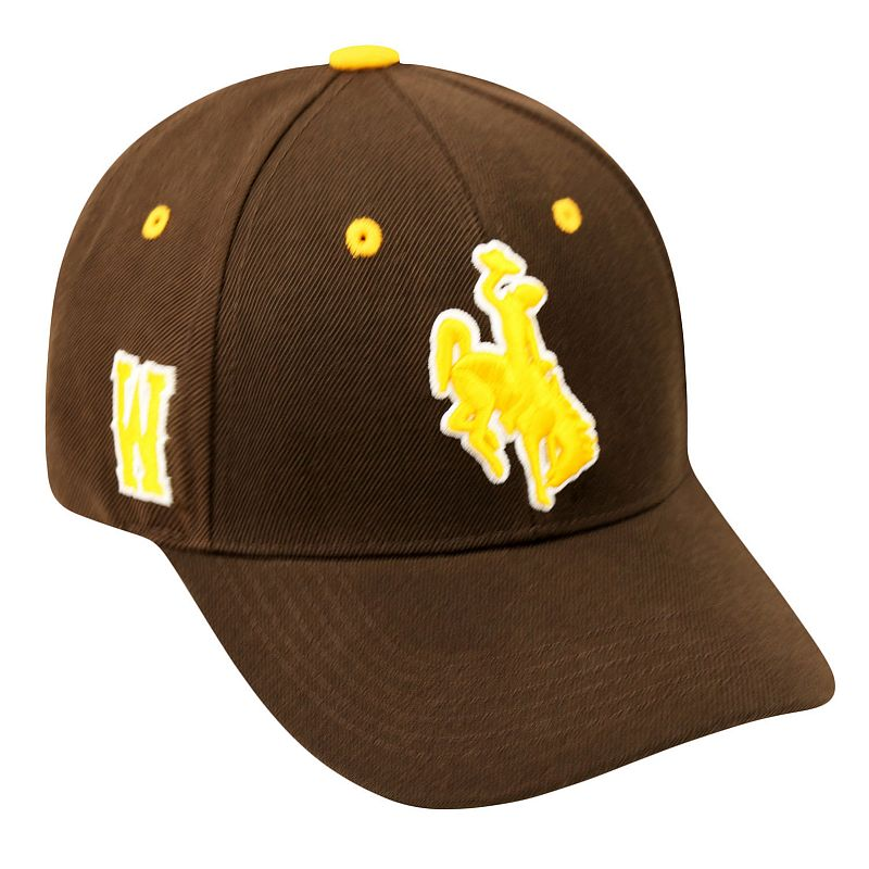 Adult Top of the World Wyoming Cowboys Triple Threat Adjustable Cap