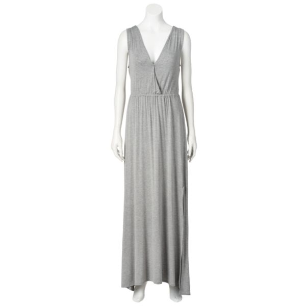 LC Lauren Conrad Shirred Crossover Maxi Dress - Women's
