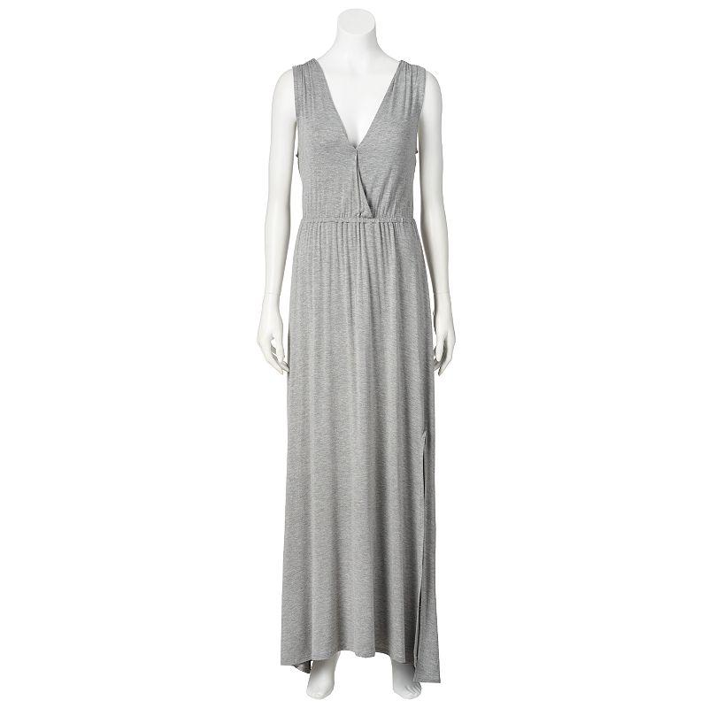 LC Lauren Conrad Shirred Crossover Maxi Dress - Women's