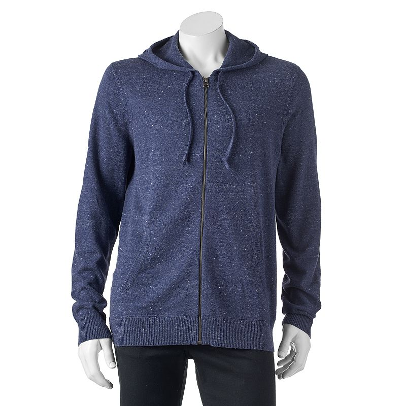 Men's SONOMA Goods for Life™ ¨ Classic-Fit Solid Fine Gauge Full-Zip Hoodie