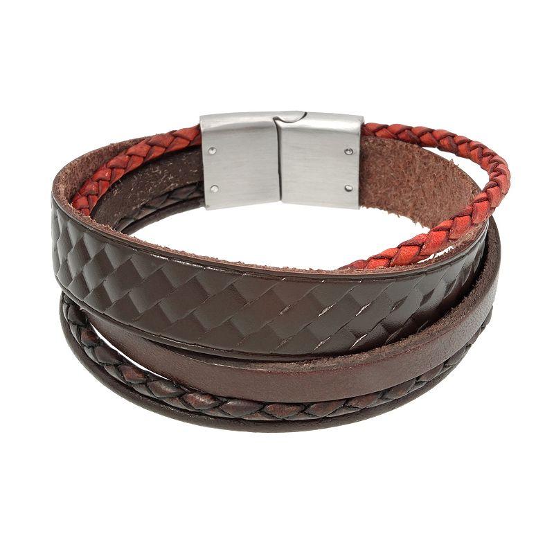 Stainless Steel Braided Multistrand Bracelet - Men