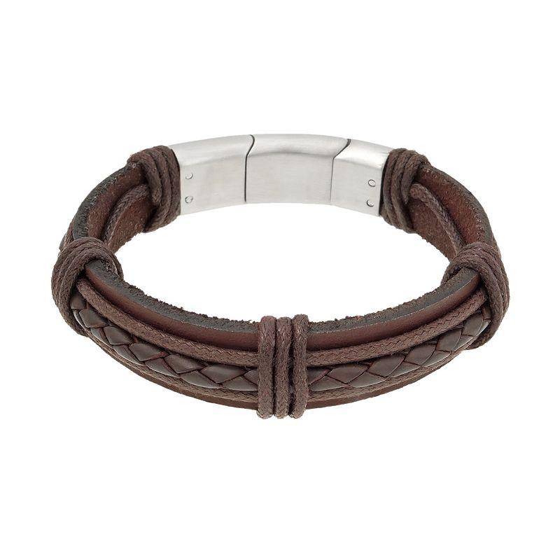 Stainless Steel Braided Bracelet - Men