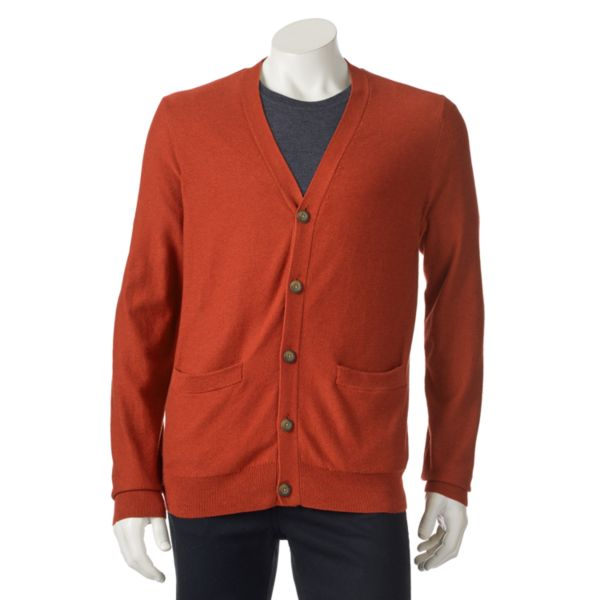 Men's SONOMA Goods for Life™ ¨ Classic-Fit Solid Fine Gauge Textured Cardigan