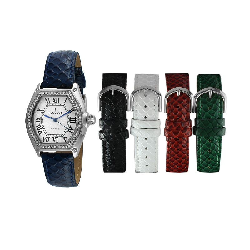 Peugeot Women's Watch & Interchangeable Leather Band Set