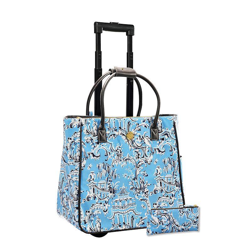 Anna Griffin 2-piece Imperial Laptop Roller Bag & Pencil Case Set