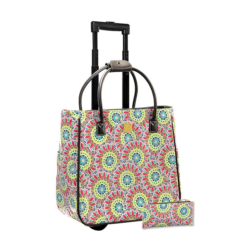 Maude Asbury 2-piece Geofabulous Laptop Roller Bag & Pencil Case Set