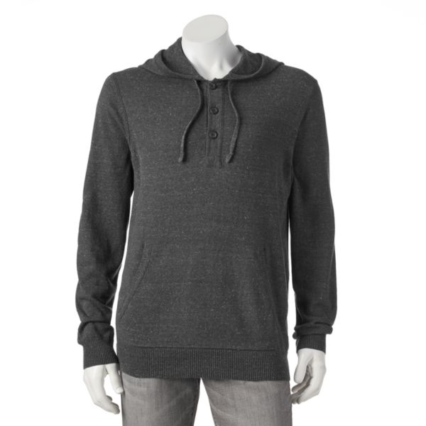 Men's SONOMA Goods for Life™ ¨ Classic-Fit Solid Fine Gauge Henley Hoodie