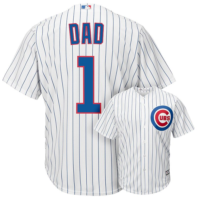 Men's Majestic Chicago Cubs #1 Dad Replica Jersey