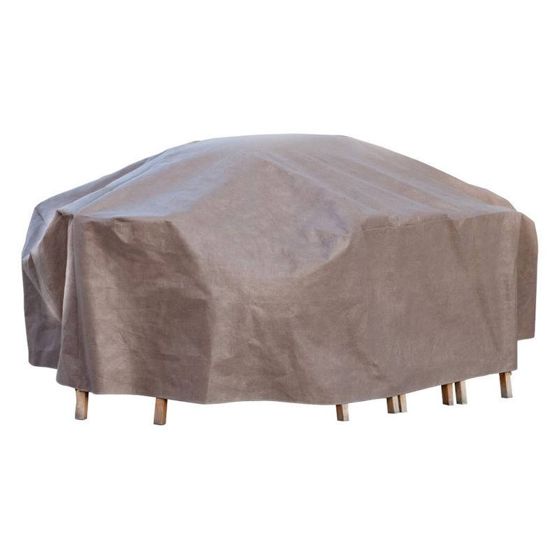 Outdoor Duck Covers Elite 109-in. Rectangle Patio Table Cover and Inflatable Airbag, Brown