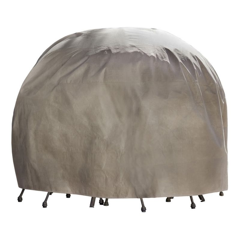 Outdoor Duck Covers Elite 76-in. Round Patio Table Cover and Inflatable Airbag, Brown