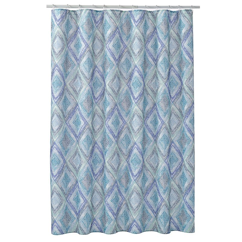 Diamond Mosaic Fabric Shower Curtain
