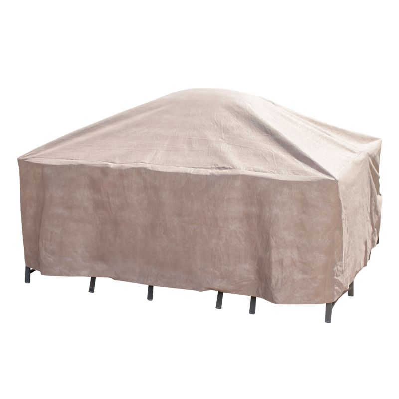 Outdoor Duck Covers Elite 92-in. Square Patio Table Cover and Inflatable Airbag, Brown