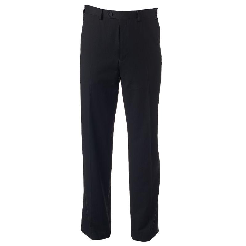 Men's IZOD Classic-Fit Black Twill Flat-Front Suit Pants