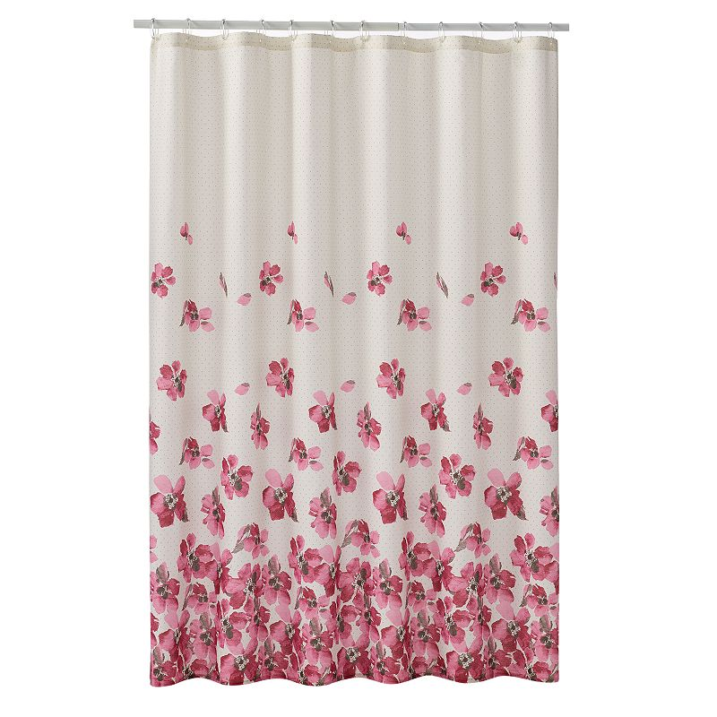 Home Classics® Falling Floral Fabric Shower Curtain