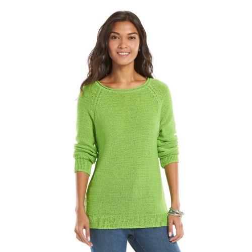 Women's Chaps Boatneck Raglan Sweater