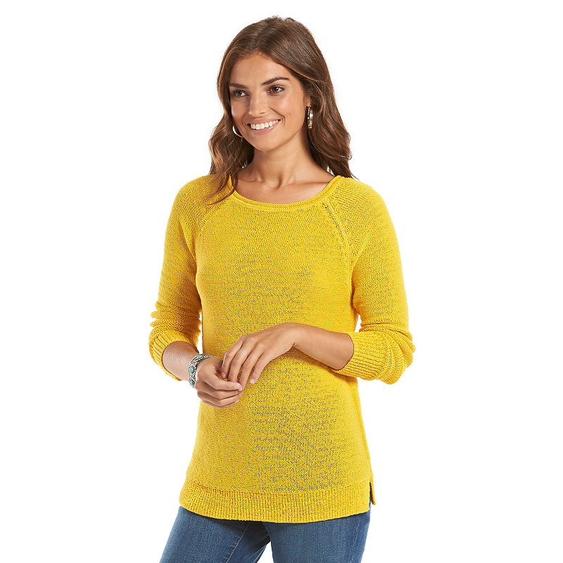 Women's Chaps Boatneck Raglan Sweater