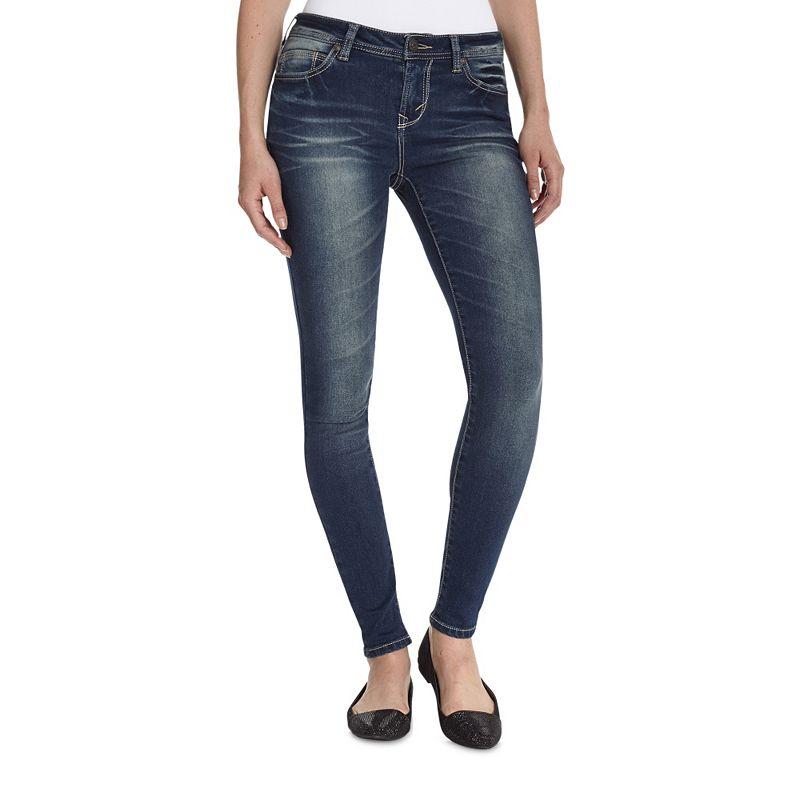 Wallflower Faded Juniors' Skinny Jeans (Blue)
