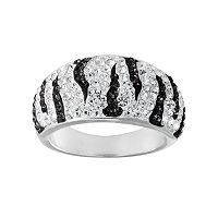 Crystal Radiance Zebra Ring