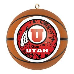 Utah Utes Basketball Christmas Ornament by