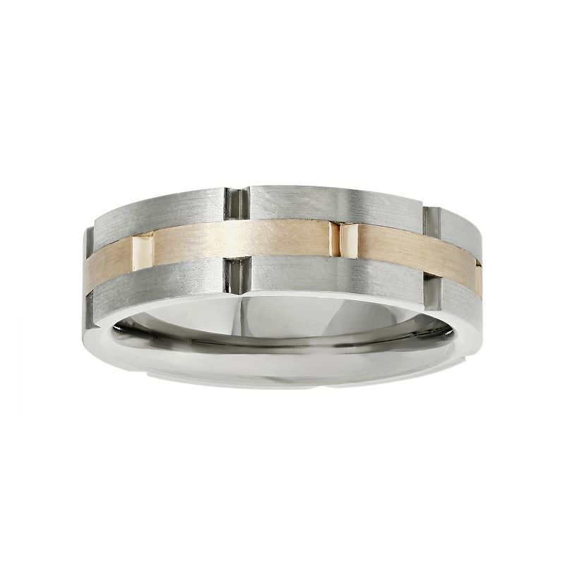 LYNX Stainless Steel Two Tone Band - Men