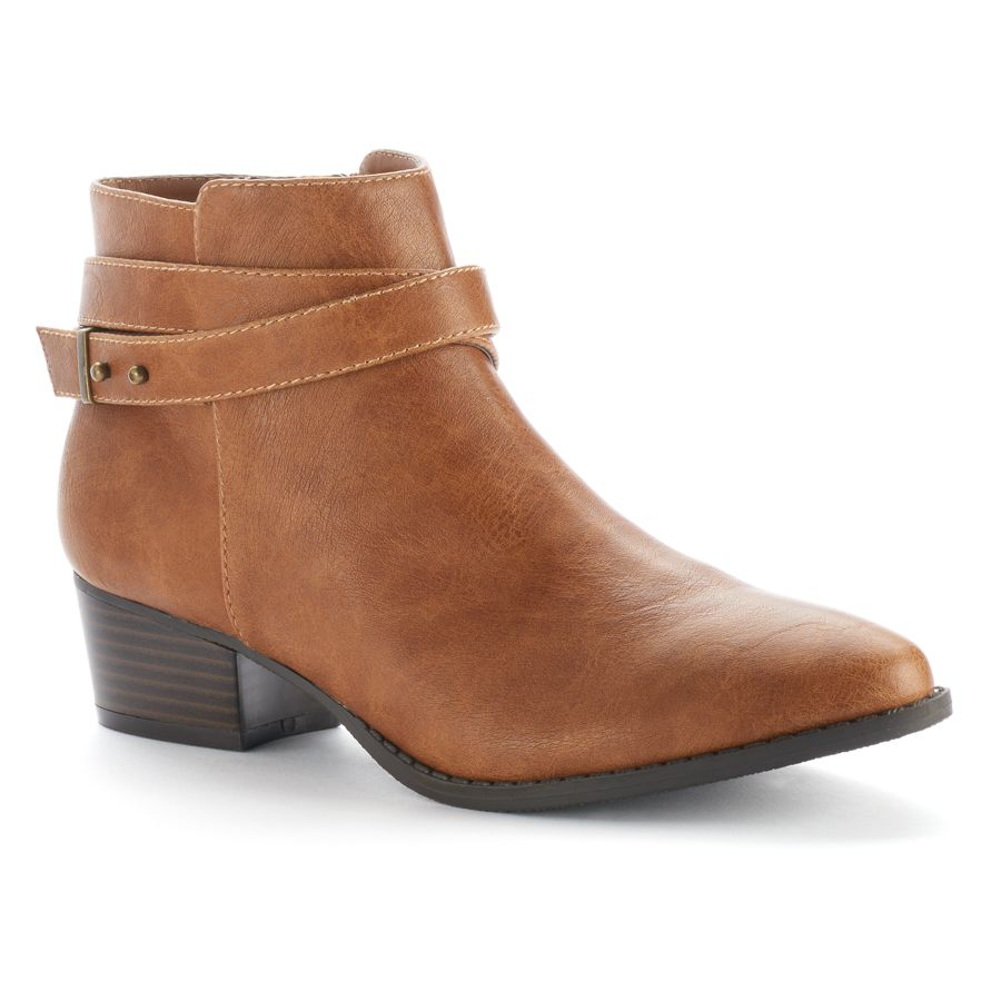 LC Lauren Conrad Strappy Ankle Boots
