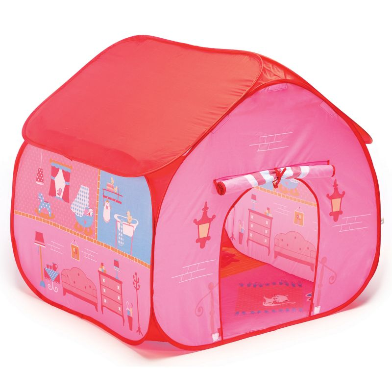 Fun2Give Pop-it-Up Dollhouse Tent with House Play Mat, Multicolor