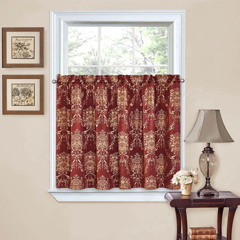 Waverly felicite 2 pk tier kitchen curtains 60 39 39 x 36 39 39 dealtrend - Waverly kitchen curtains ...