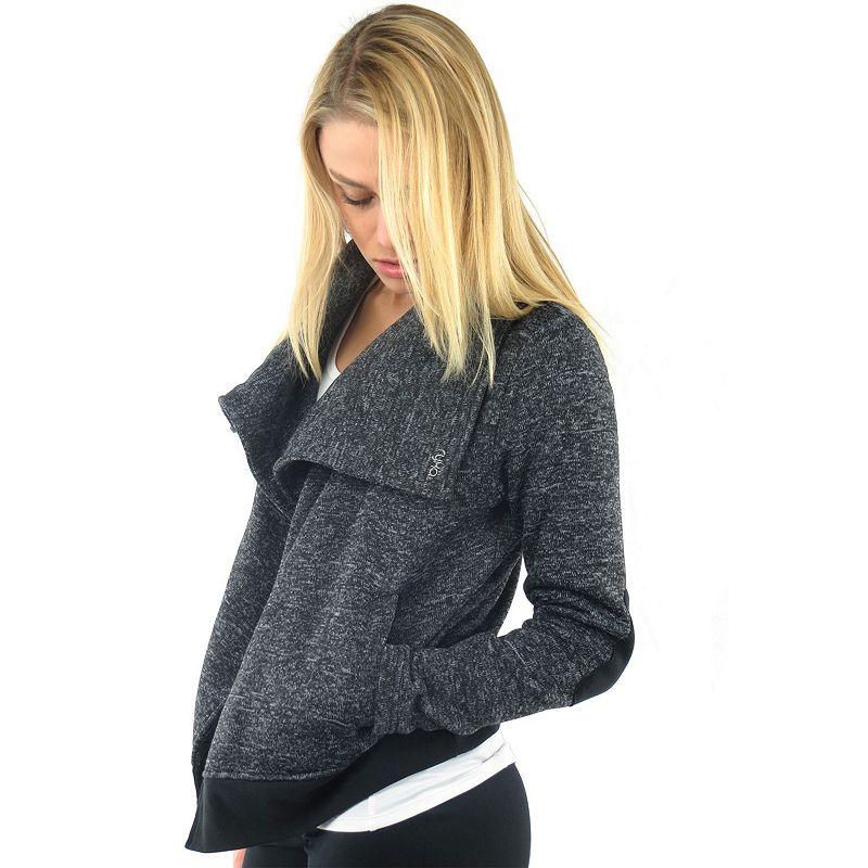 Plus Size Ryka Textured Fleece Moto Jacket