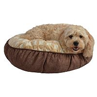 Pet Spaces 24-Inch Flannel Round Pet Bed
