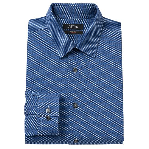 Apt 9 slim fit diamond stretch spread collar dress shirt for Apartment 9 dress shirts