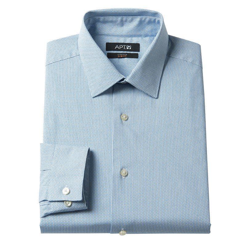 Men's Apt. 9® Slim-Fit Trident Stretch Spread-Collar Dress Shirt