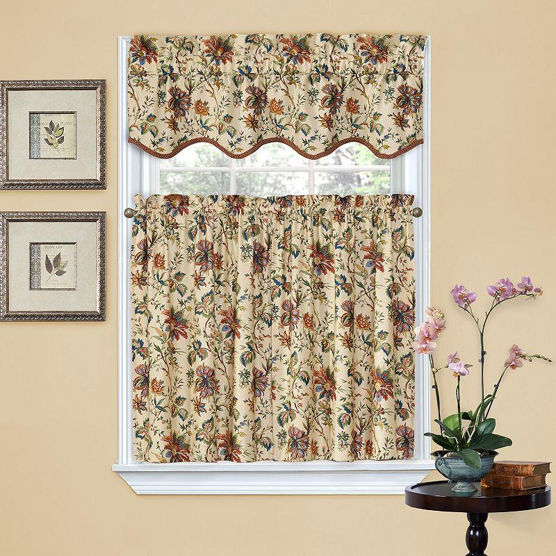 Waverly Felicite 2 Pk Tier Kitchen Curtains 60 X 36
