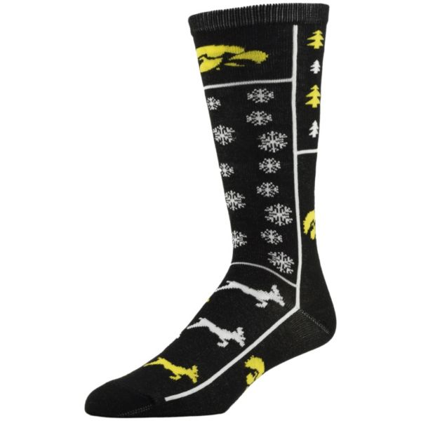 Men's Iowa Hawkeyes Ugly Sweater Crew Socks