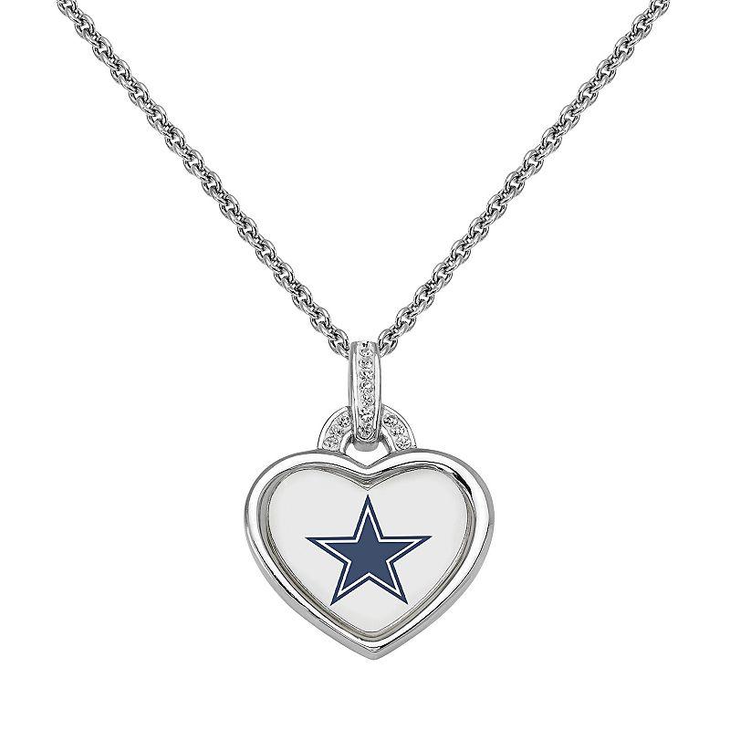 Dallas Cowboys Heart Pendant Necklace