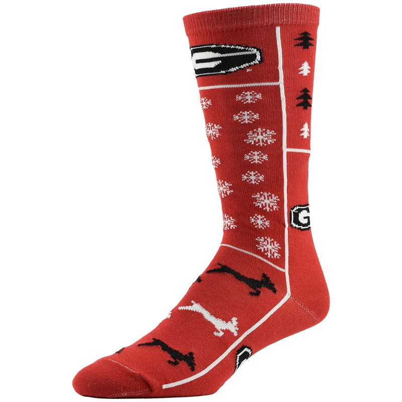 Men's Georgia Bulldogs Ugly Sweater Crew Socks