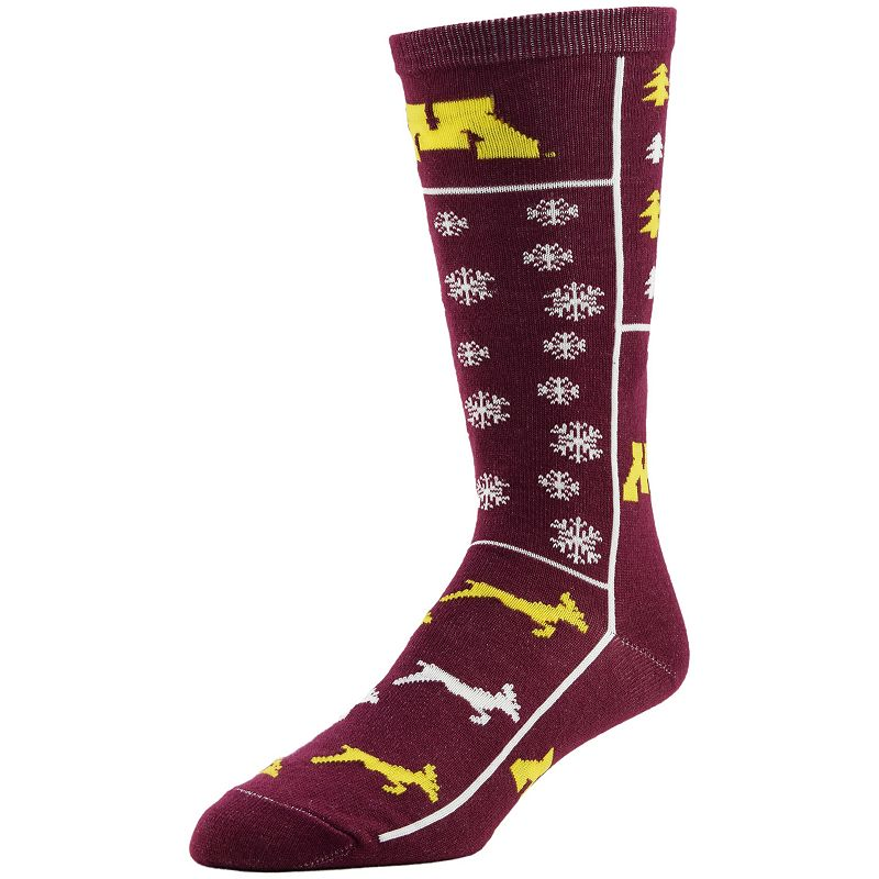 Men's Minnesota Golden Gophers Ugly Sweater Crew Socks