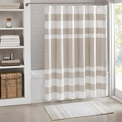 Madison Park Spa Waffle Weave 3M Scotchgard Fabric Shower Curtain by
